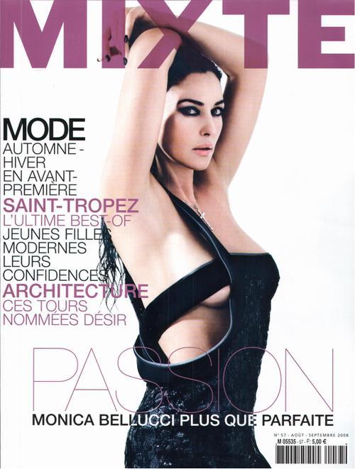モニカ・ベルッチ雑誌「MIXTE」でのセクシーグラビア